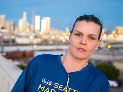 Rebecca Hayes' drug use and criminal behavior landed her in L.A.'s Midnight Mission family shelter. She now thrives on the discipline of running and has been trying to get a job as a surgical technician.